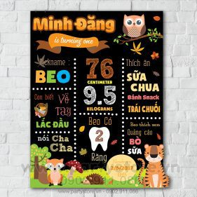 Bảng chalkboard chủ đề Safari