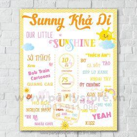 Bảng thông tin cho bé chủ đề nắng biển