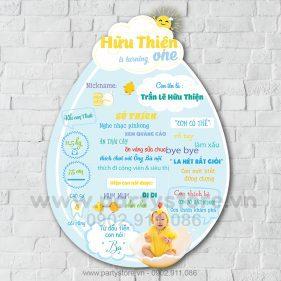 Bảng thông tin chủ đề Gà Con cho bé