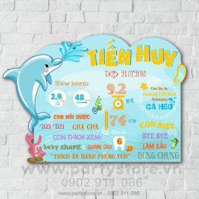 Bảng thông tin chủ đề biển - cá heo