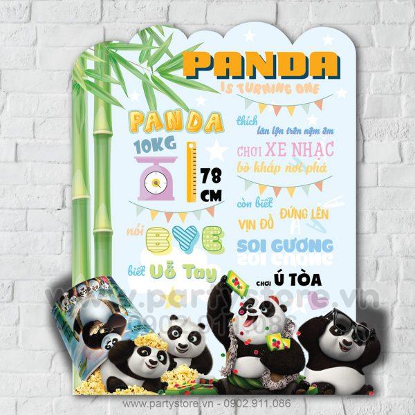 Bảng thông tin thôi nôi chủ đề Gấu Trúc Panda