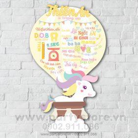 Bảng thông tin thôi nôi Khinh Khí Cầu - Unicorn