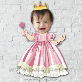 Chibi cho bé gái công chúa đội vương miện