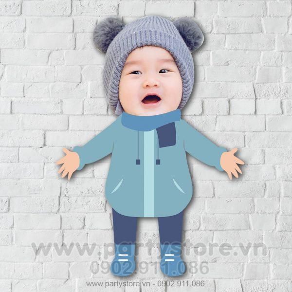 Chibi cho bé đáng yêu mặc áo ấm
