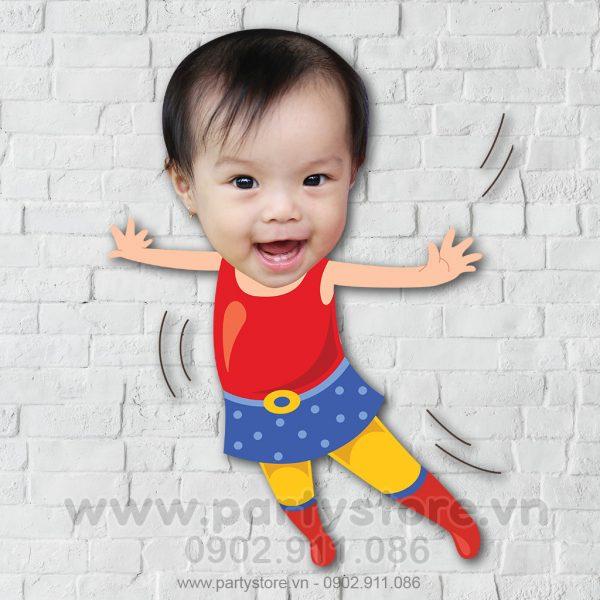 Chibi cho bé Wonder Woman nhí