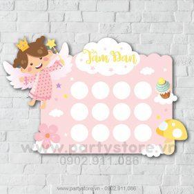 Khung hình 12 tháng bé gái thiên thần Tâm Đan