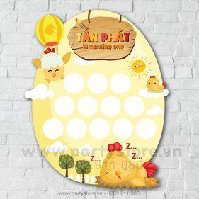 Khung hình 12 tháng bé gà hình quả trứng