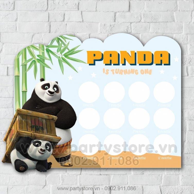 Khung hình 12 tháng gấu trúc Panda