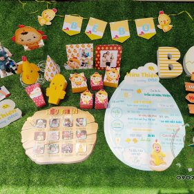 Set trang trí sinh nhật dành cho bé tuổi Gà