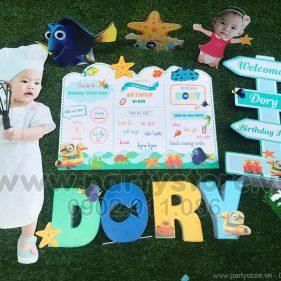 Set trang trí sinh nhật chủ đề Biển (Dory)