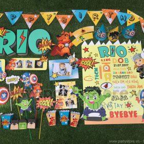 Set trang trí sinh nhật chủ đề Siêu Anh Hùng