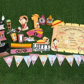 Set trang trí sinh nhật chủ đề One Piece - Đảo Hải Tặc