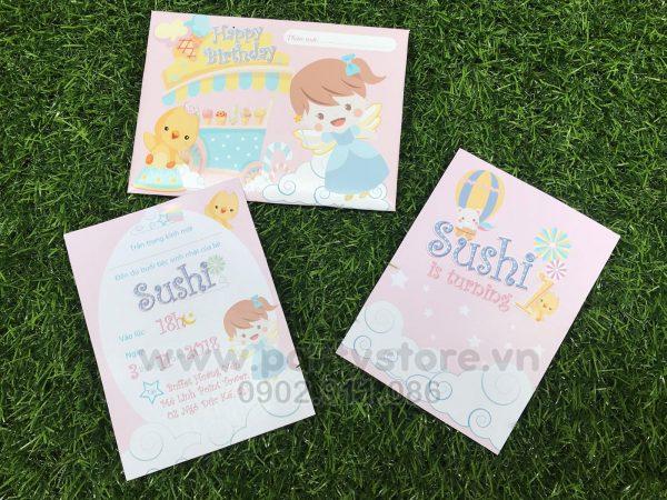 Thiệp sinh nhật Fairy cho bé gái