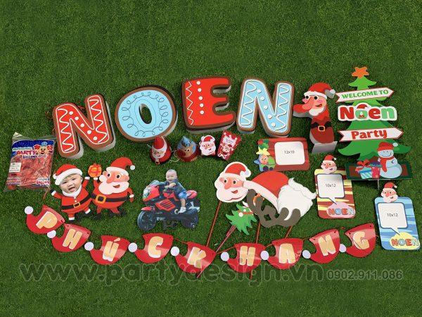 Set trang trí sinh nhật chủ đề Noel