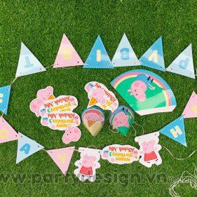 Set trang trí sinh nhật chủ đề Peppa Big