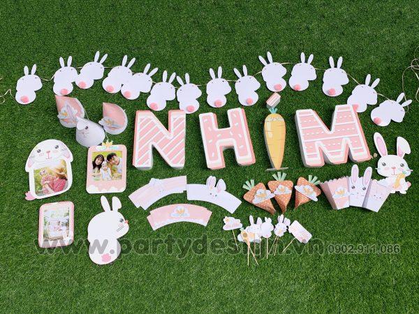 Set trang trí sinh nhật chủ đề Thỏ