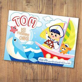 Thiệp sinh nhật chủ đề Biển-Tom