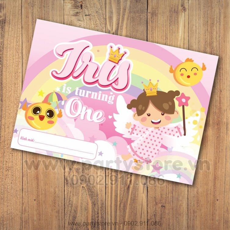 Thiệp sinh nhật chủ đề Thiên Thần _ Iris