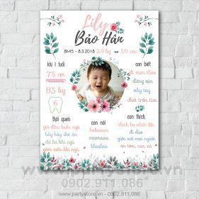Bảng thông tin cho bé gái- LiLy