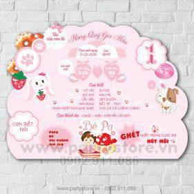 Bảng thông tin cho chủ đề em bé và Cún