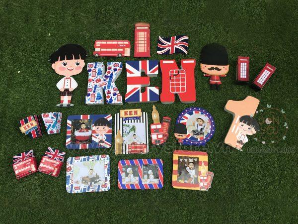 Set trang trí sinh nhật chủ đề Luân Đôn