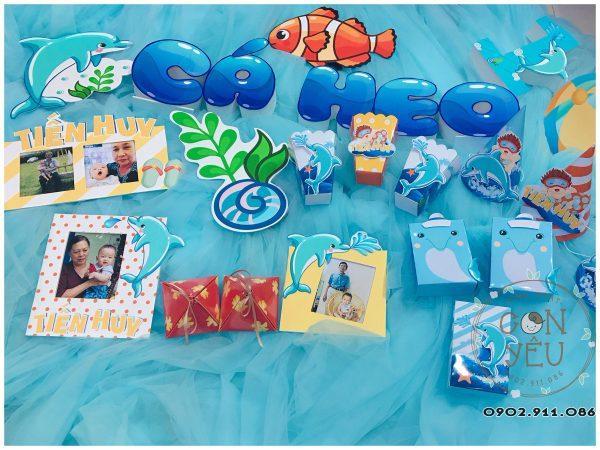 Set trang trí sinh nhật chủ đề Cá Heo