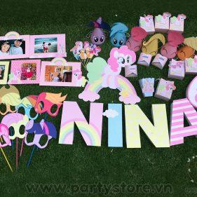 Set trang trí sinh nhật chủ đề Pony
