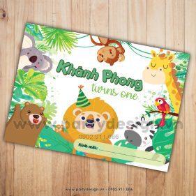 Thiệp sinh nhật chủ đề Animals