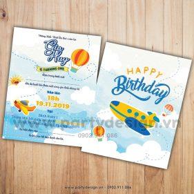 Thiệp sinh nhật chủ đề Phi Công