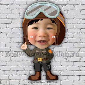 Chibi cho bé phi công