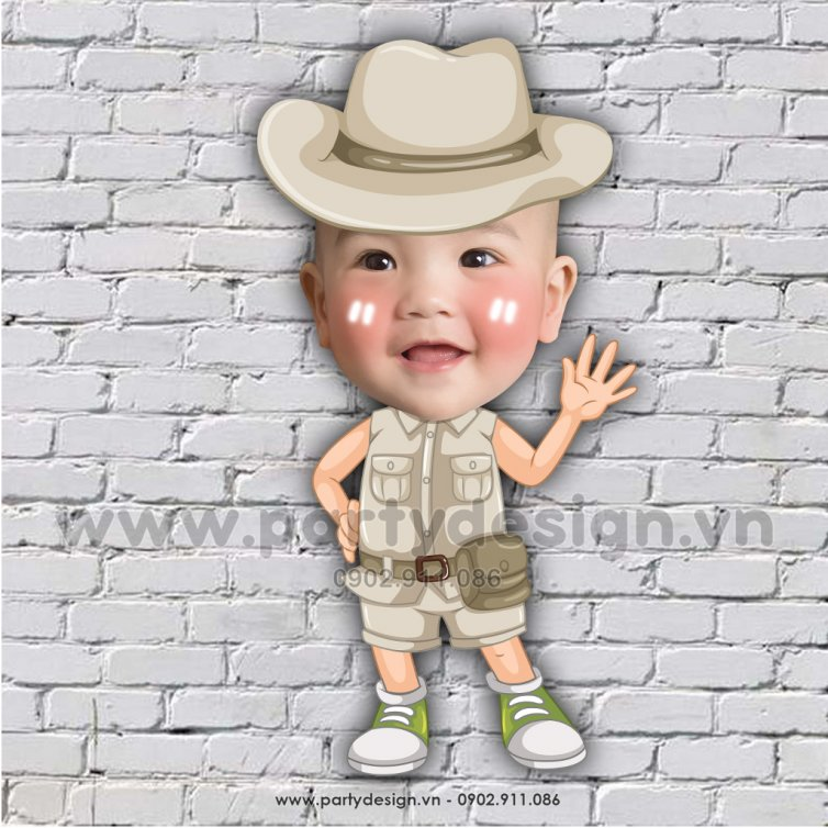 Chibi cho bé khám phá rừng Safari