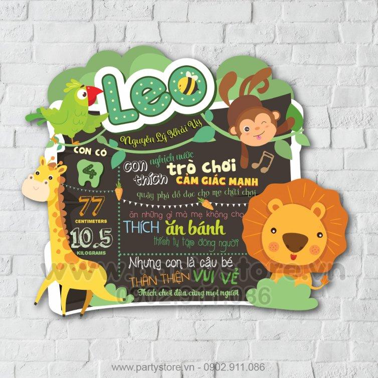 Bảng Thông Tin Bé Chủ Đề Animal Safari 2 - Leo