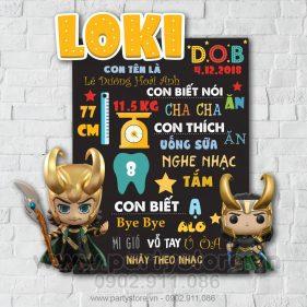 Bảng Thông Tin Bé Chủ Đề Loki