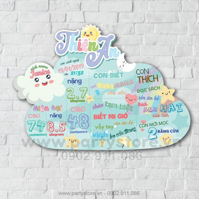 Bảng Thông Tin Bé Chủ Đề Mây