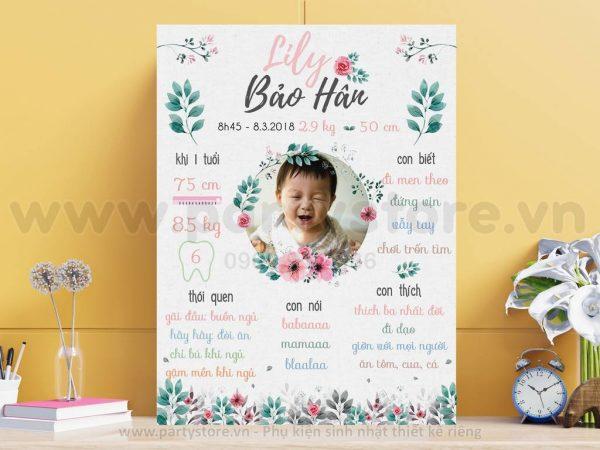 Bảng thông tin hoa lá Lily Bảo Hân