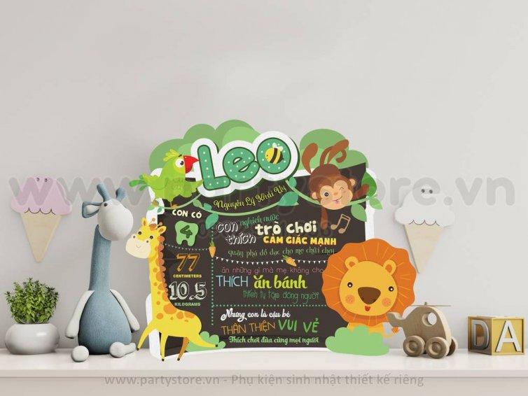 Bảng thông tin Safari Rừng - bé Leo