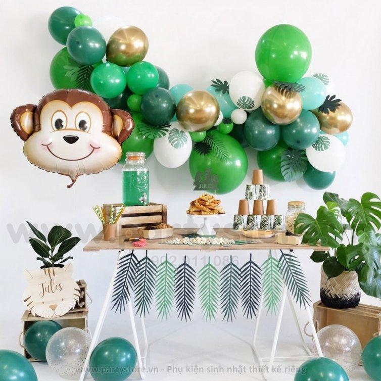 Set bong bóng Khỉ xanh lá