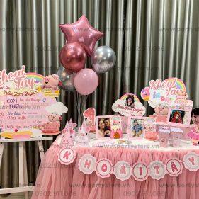 Set trang trí sinh nhật chủ đề heo hồng - Khả Trân