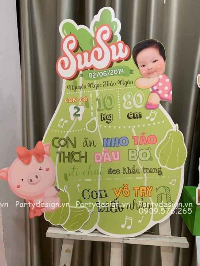 Bảng thông tin bé gái chủ đề Su Su