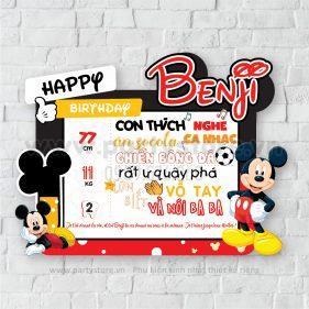 Bảng Thông Tin Bé chủ đề chuột Micky (Benji)
