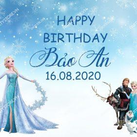 Backdrop sinh nhật Elsa, Frozen
