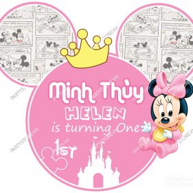 Backdrop sinh nhật Minnie
