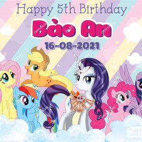 Backdrop sinh nhật ngựa Pony