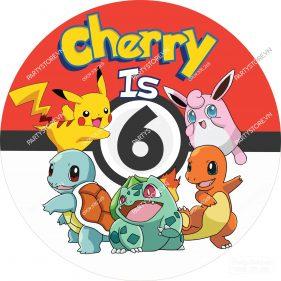 Backdrop sinh nhật Pokemon