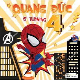 Backdrop sinh nhật Spider-Man