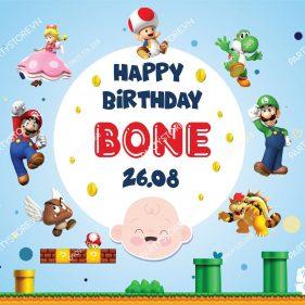 Backdrop sinh nhật Super Mario