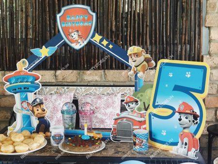 Tự trang trí sinh nhật tại nhà cho bé chủ đề Paw Patrol
