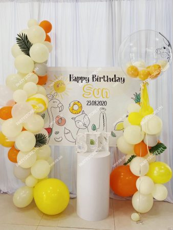 Trang trí sinh nhật tại nhà cho bé gái chủ đề Sunny - mặt trời