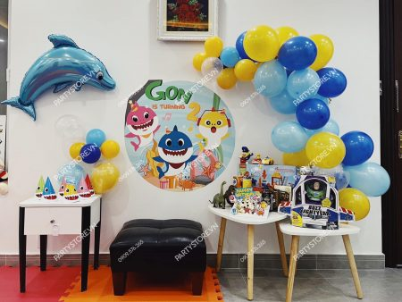 Tự trang trí sinh nhật cho bé tại nhà chủ đề Baby Shark